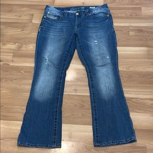 SEVEN 7 slim boot distressed jeans size 18